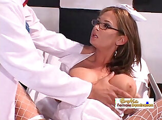 Nurse lets the doctor with his big dick