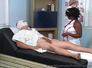 black nurse milking cock