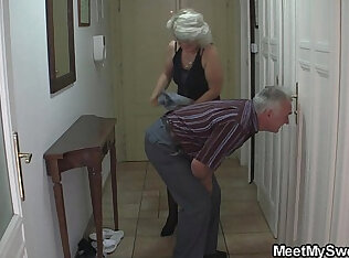 Perverted old parents fuck cam girl